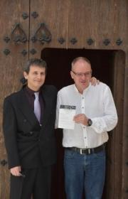Con el concejal de cultura Dietmar Roth